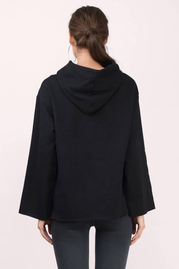 Black Sweatshirt - Hoodie Sweatshirt - Black Hoodie - $90.00