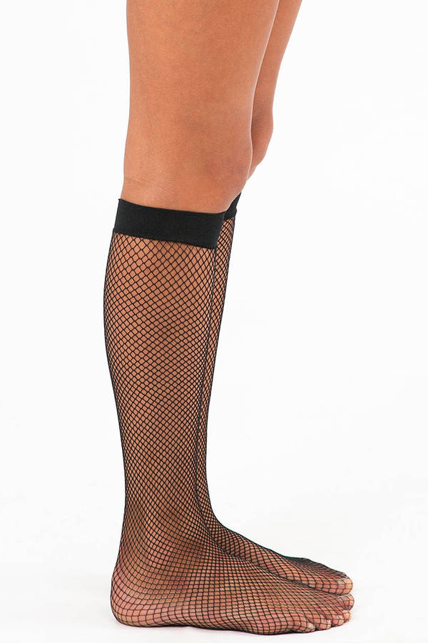 Feeling Fishnet Knee Highs
