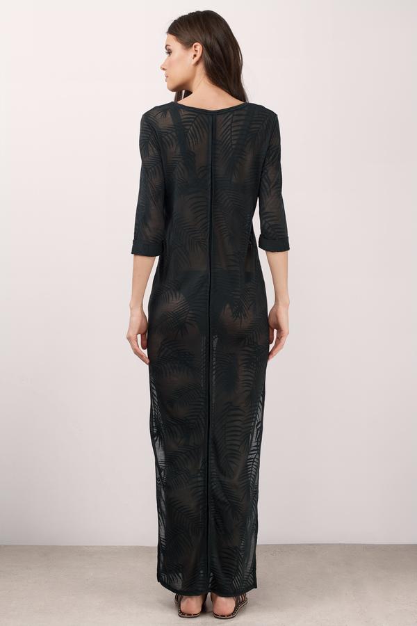 Black Cover Up Dress Side Slit Dress Pool Dress Day Dress