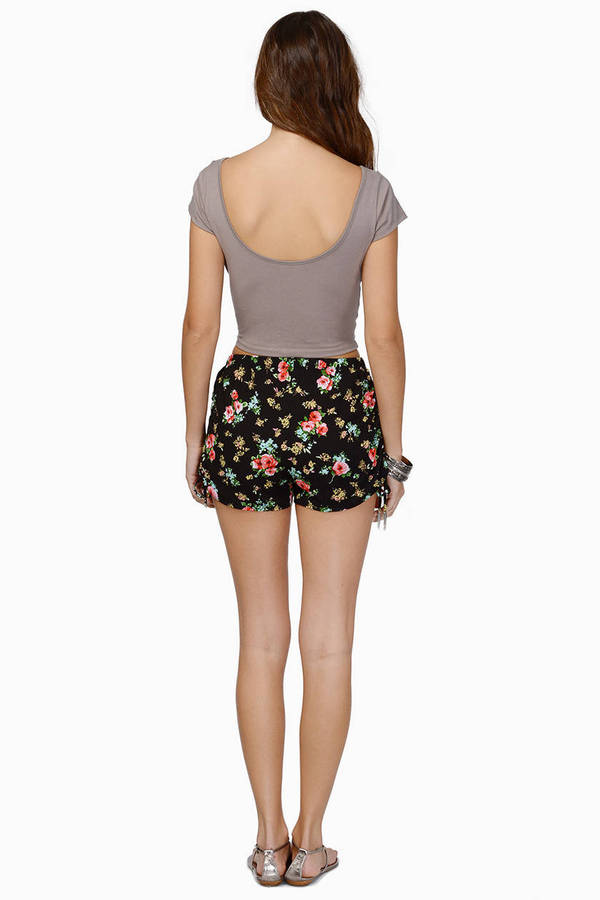 Vintage Rose Tied Shorts