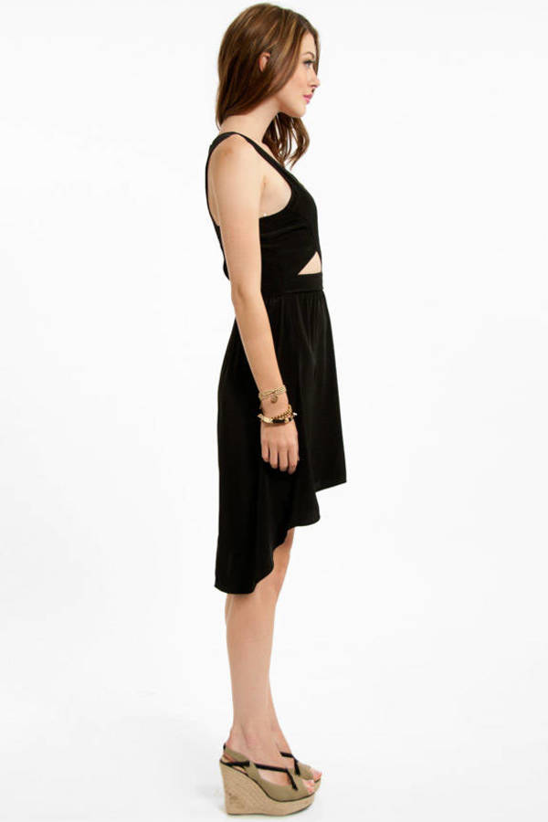 Geometry Hi Low Dress