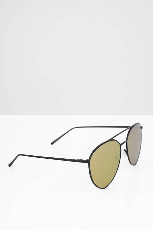 36f1cd8f6e ... QUAY Quay Indio Black   Gold Mirrored Aviator Sunglasses