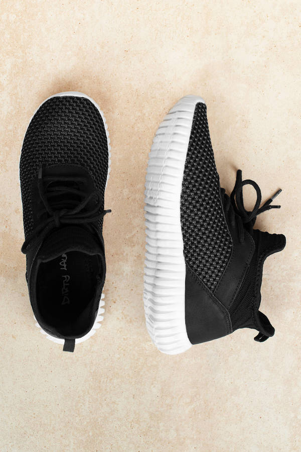 Black Shoes Comfortable Sneakers Black Athletic Shoes High Top