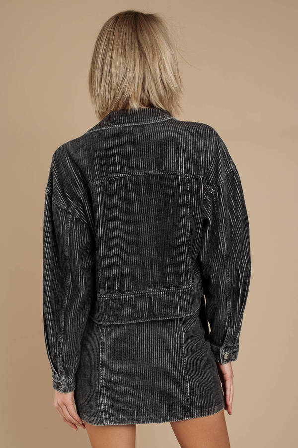5adf7d6e8023 ... Honey Punch Honey Punch High School Sweetheart Black Vintage Corduroy  Jacket ...