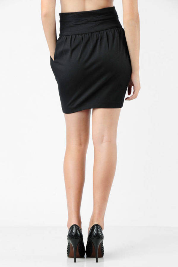 d0846de8ce Black Elizabeth And James Skirt - High Waisted Skirt - Black Bubble ...