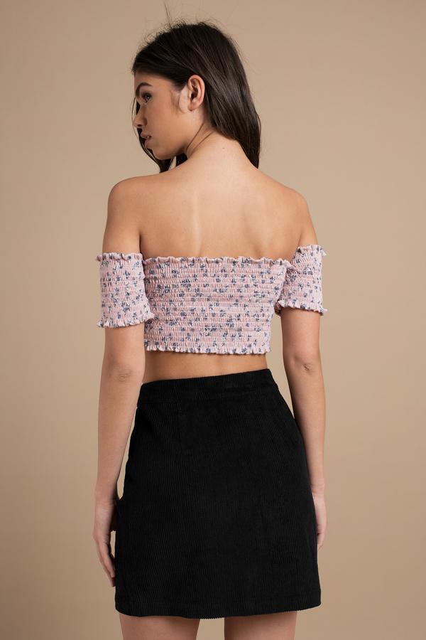 Cute Black Skirt - A Line Skirt - Corduroy Skirt - Black Skirt ...