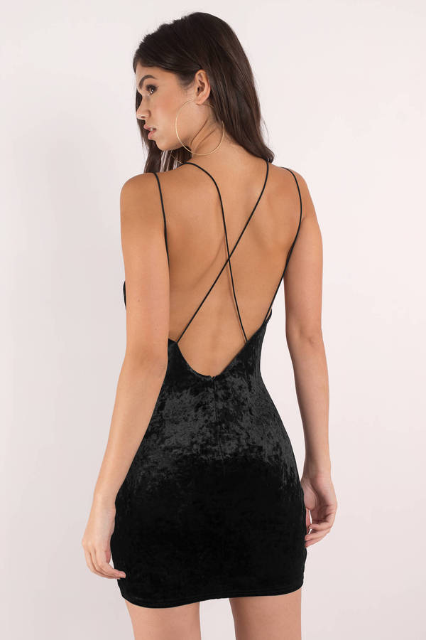 ba681a0370e7 Sexy Black Dress - V Neck - Open Back - Black Dress -  22