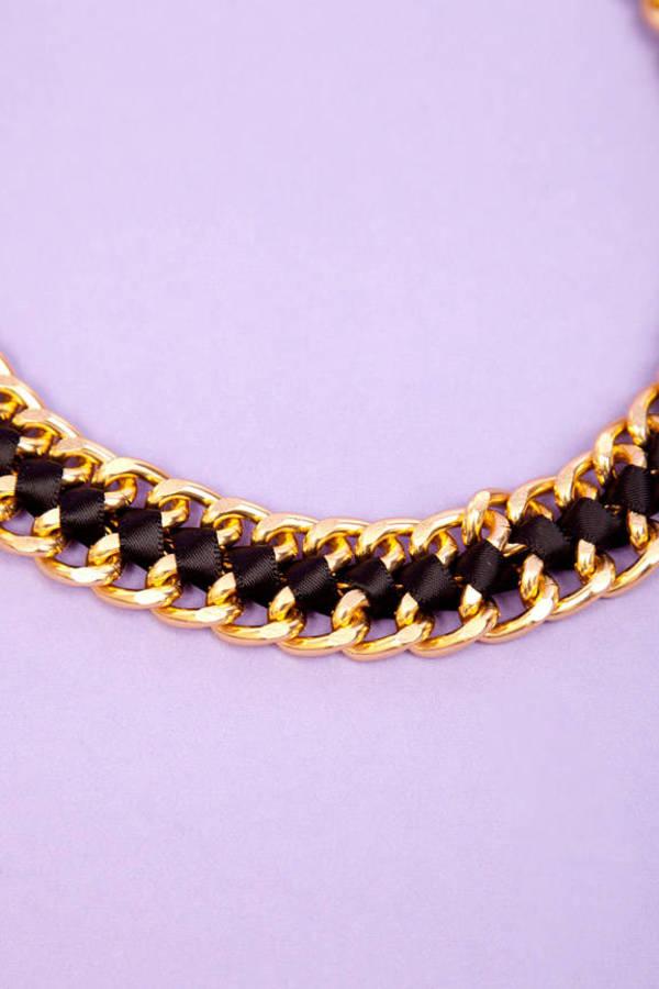Interwoven Ribbon Chain Necklace