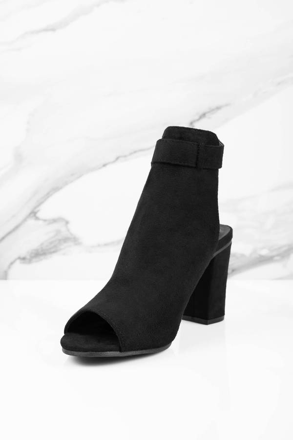 Black Boots - Black Boots - Suede Boots - $64.00