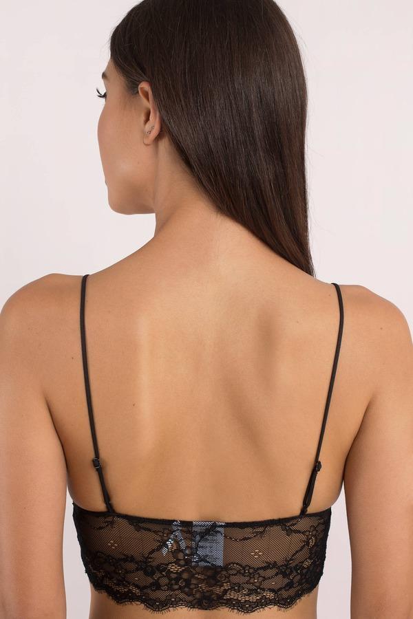 dbcd817862 Black Bra - Scalloped Hem Bra - Black Lace Bralette - Sexy Lingerie ...