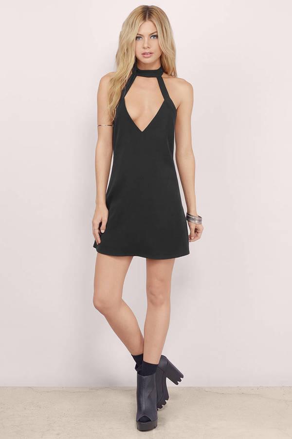 8dad3d7eca Cute Black Dress - Cut Out Dress - Pretty Black Dress - Shift Dress ...