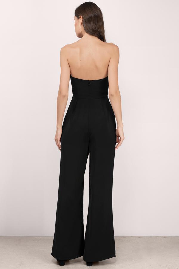 1bb114cdde4 Chic Black Jumpsuit - Deep V Jumpsuit - Jumpsuit - Black Jumpsuit ...