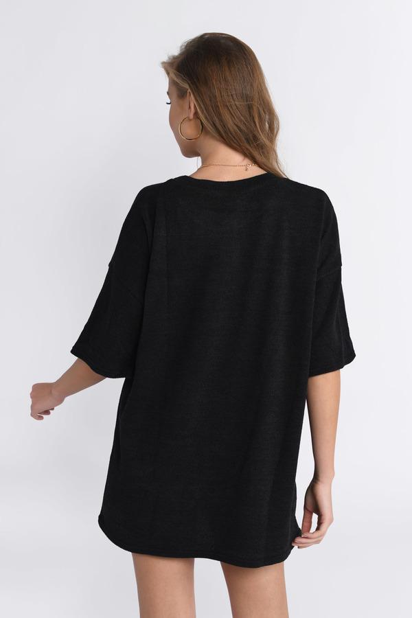 31359249eca Black Shift Dress - Casual Dress - Black Shirt Dress -  20