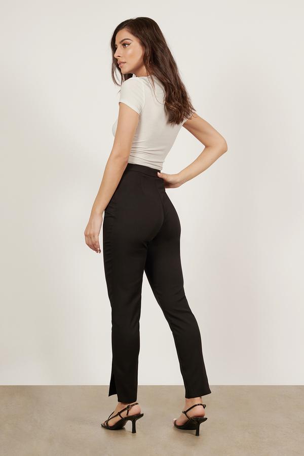 Cute Black Pants - Black Pants - Skinny Pants - $24.00