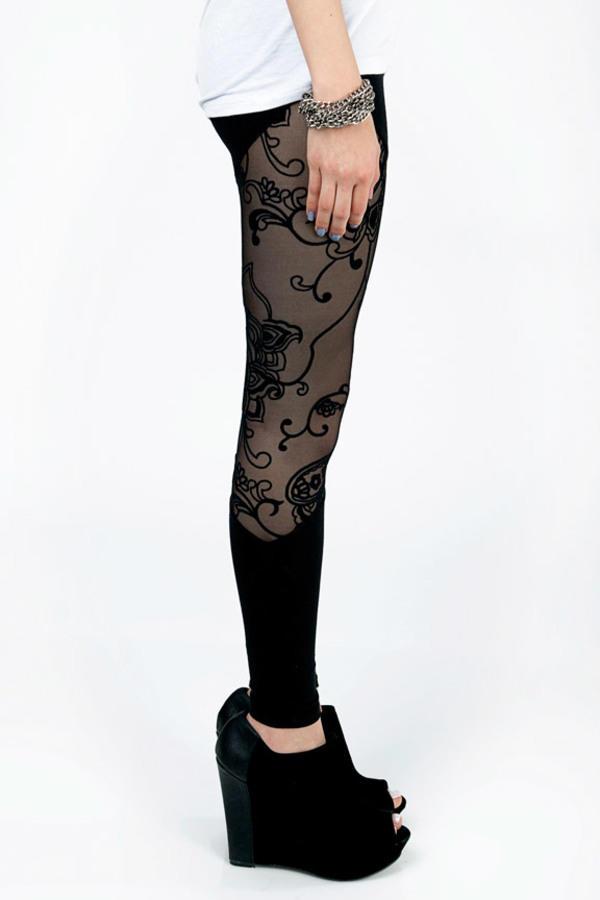 Lace Patch Leggings