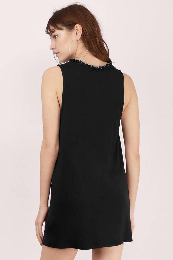 Trendy Black Shift Dress Sleeveless Dress Shift Dress 13