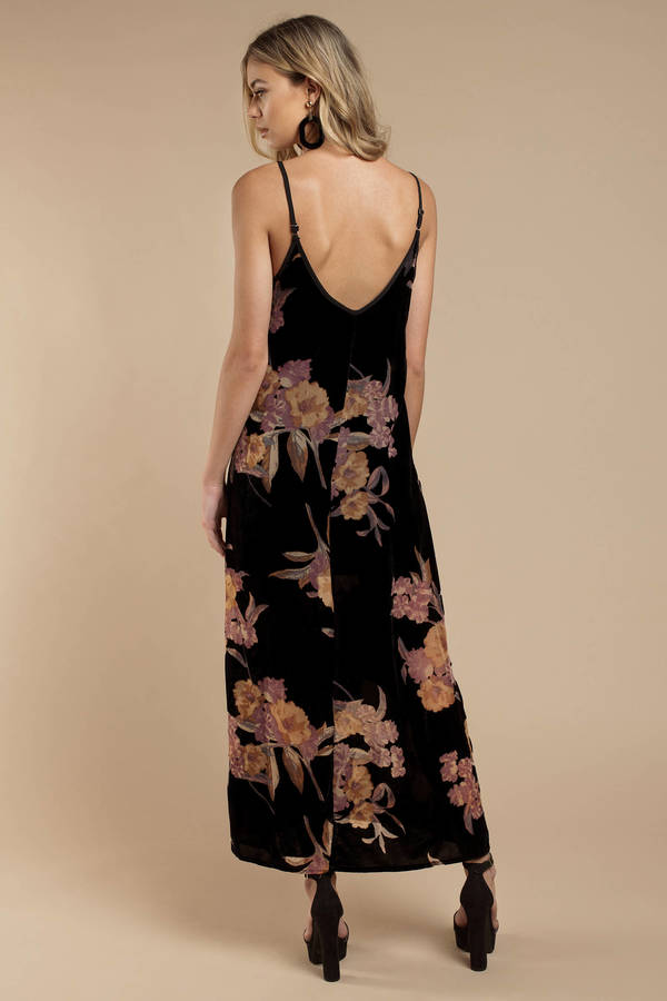 Black Band Of Gypsies Dress Bohemian Floral Dress