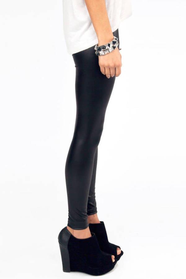Matte Leather Leggings