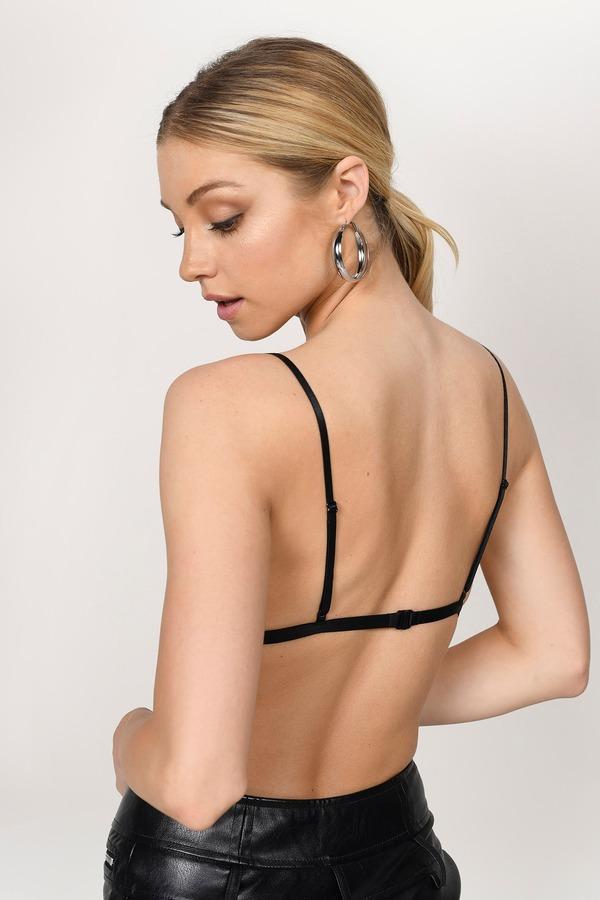 801e3d5a57b5da Black Bralette - Cute Strappy Bralette -Black Cross Front Bralette ...