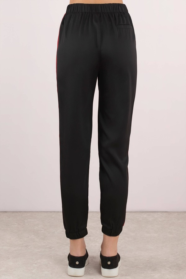 Pants High Waisted Pants Trousers Satin Pants For