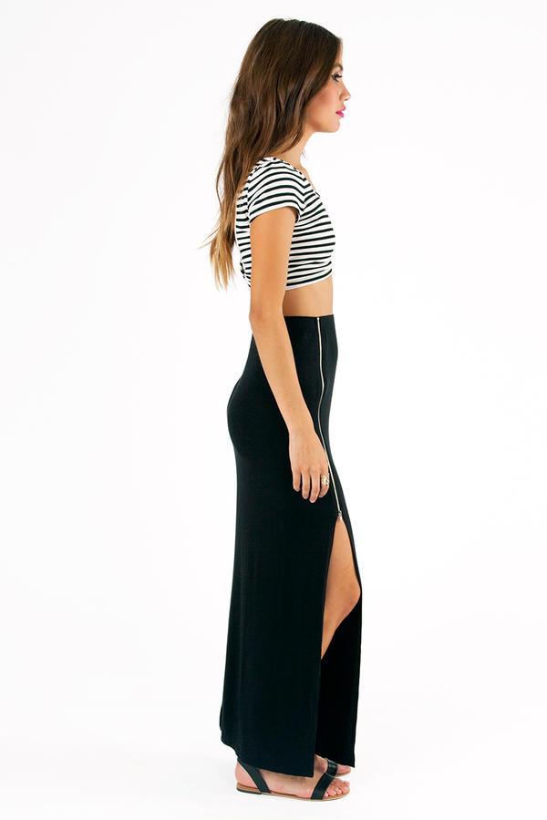 Midnight Hour Zipper Skirt