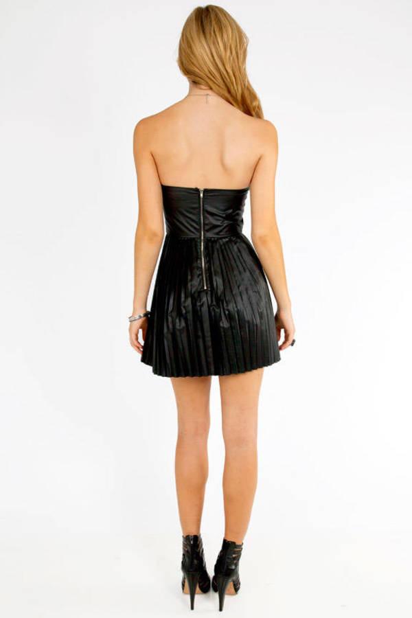 Miley Vegan Pleated Dress