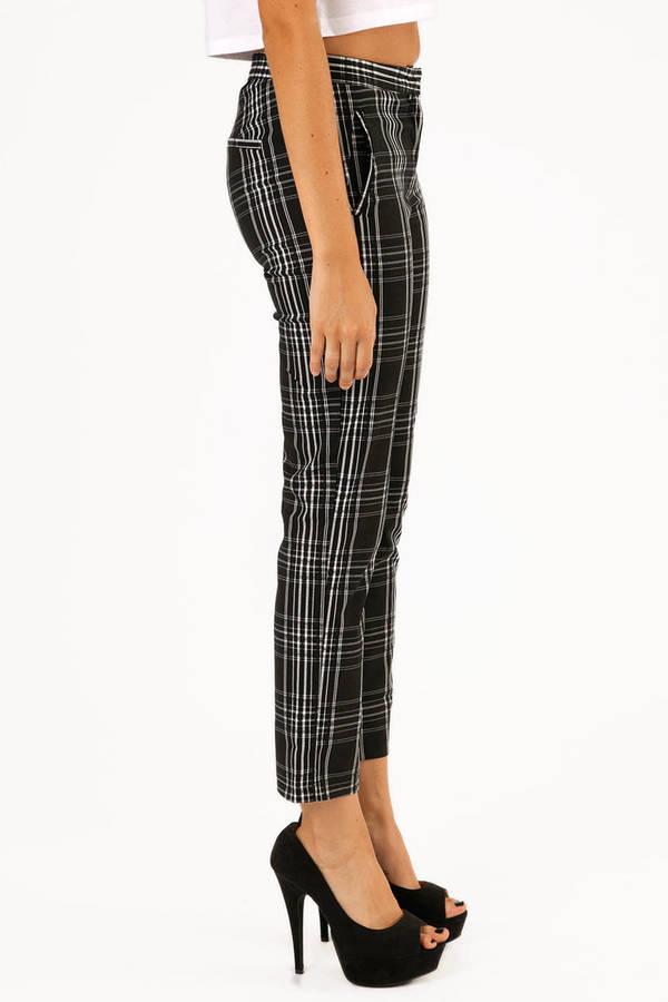 Miss Plaid Printed Pants