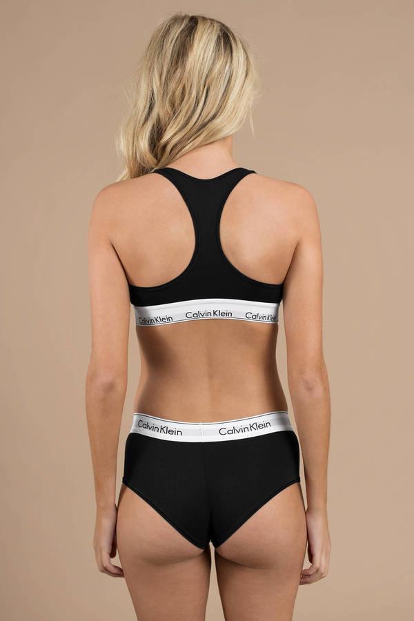 654f80a054fae Black Calvin Klein Underwear - Cotton Boyshort - Black Lounge ...