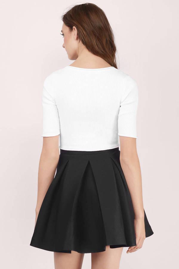 Cute Black Skirt - Black Skirt - Pleated Skirt - $15.00