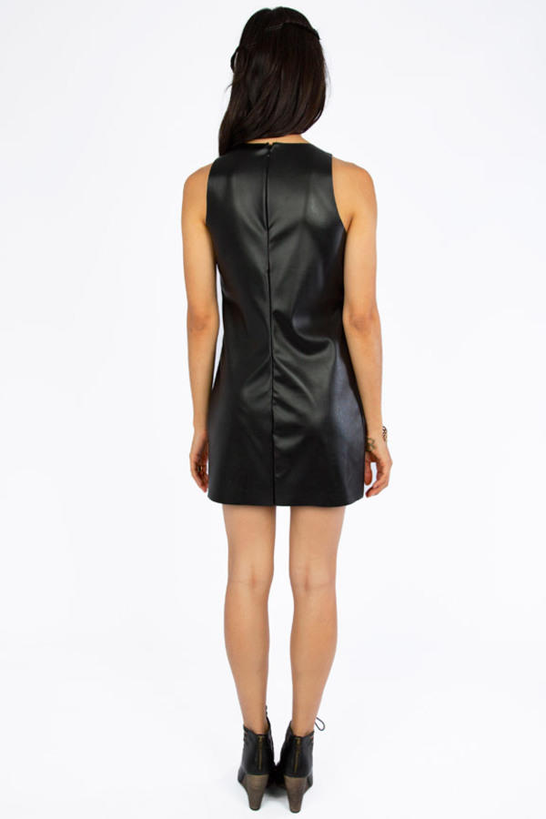 On The Edge Vegan Leather Dress