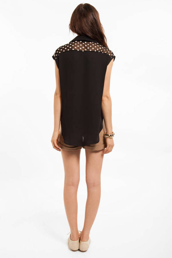 Dot Mesh With Me Blouse