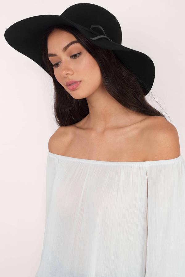 c084cbf245dc Reese Wool Black Floppy Hat - NZ$ 29 | Tobi NZ