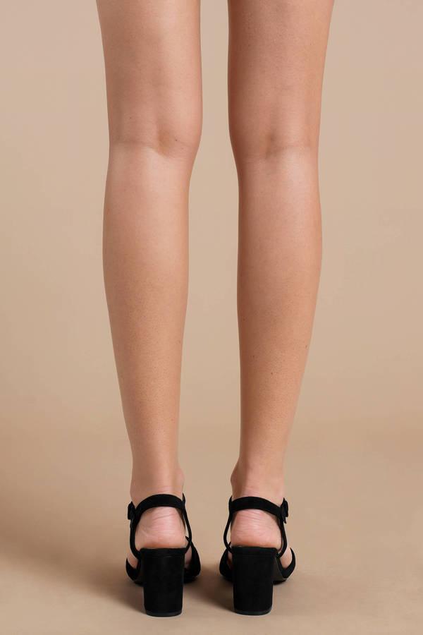 fe766df2c8 Black Chinese Laundry Heels - Short Summer Heels - Black Semi-Formal ...