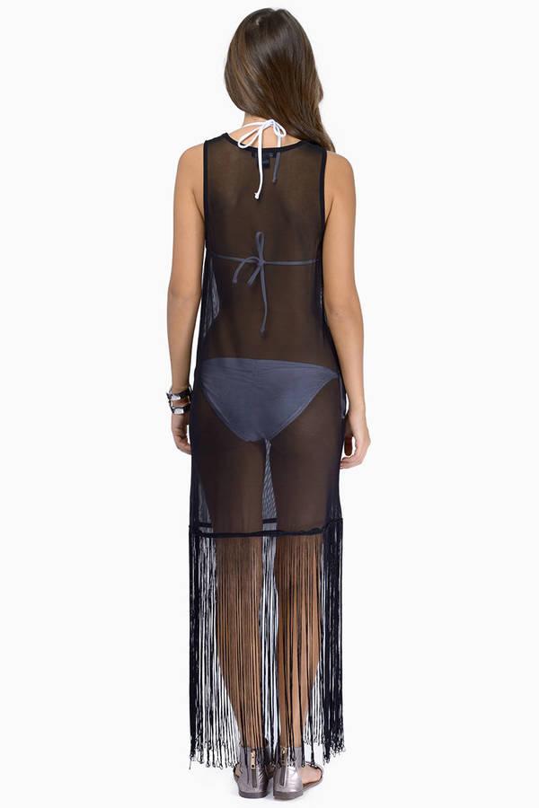 Sheer Fringe Dress