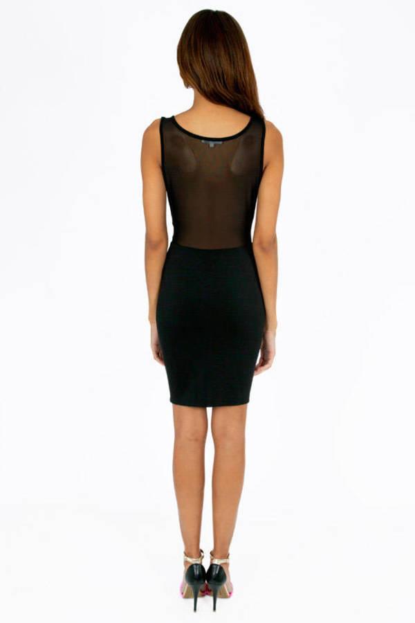 Glamorous Sheer Wonders Body Con Dress