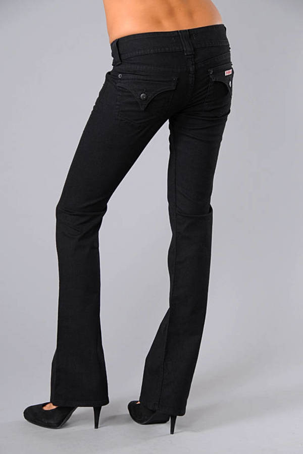 Signature Bootcut Jeans in Black