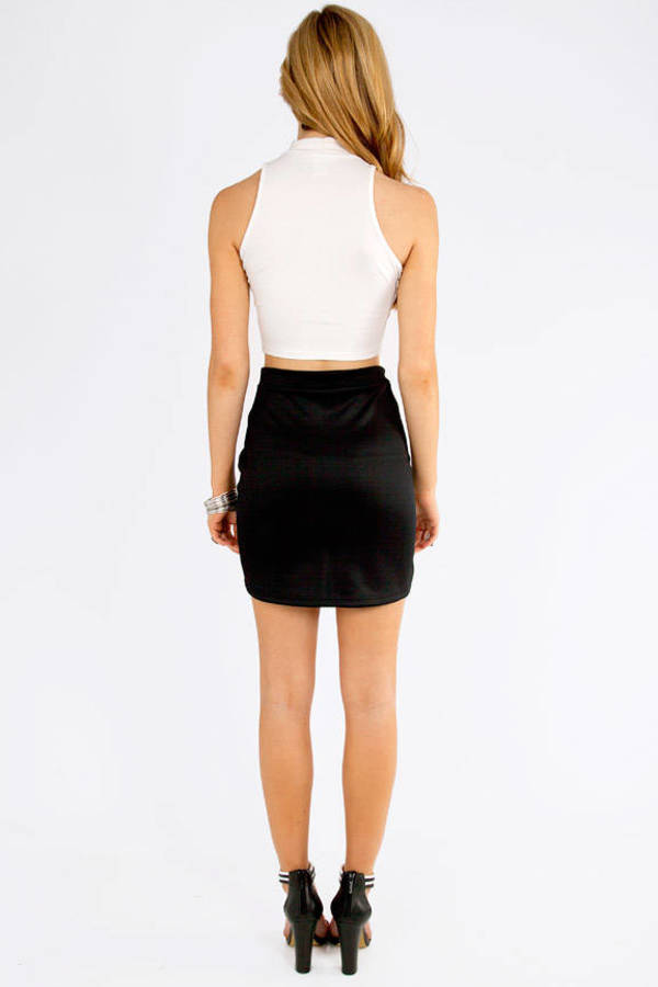Slant Cut Skirt