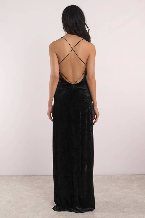 dd4ad850fc4 Sexy Black Maxi Dress - Wrap Maxi Dress - Black Velvet Maxi Dress ...