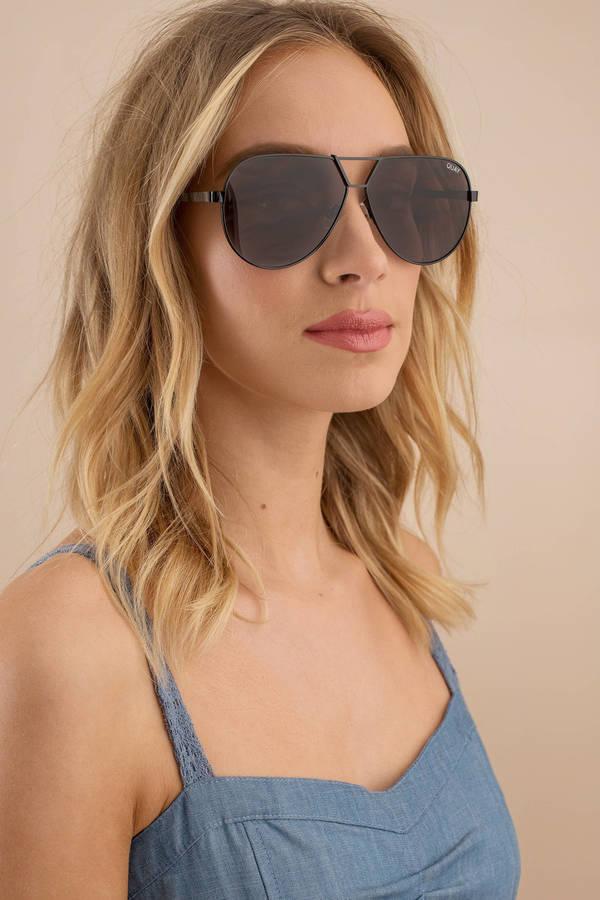 10576b6f9 Black Quay Sunglasses - Aviator Sunglasses - Black Oversized ...
