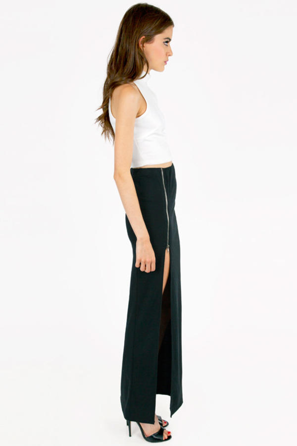 Take A Zip Maxi Skirt