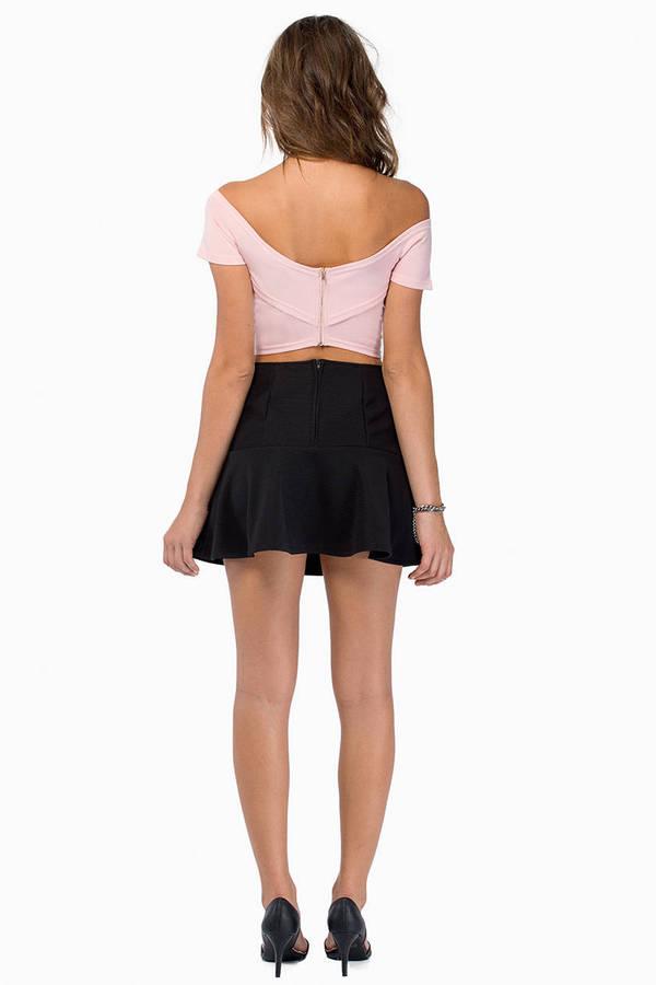 Take Notice Peplum Skirt