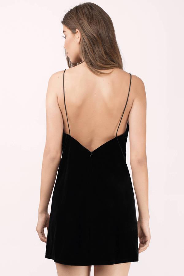 Black Shift Dress - Black Dress - V Neck Dress - C  28  18bab8b20