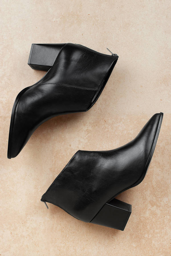 2cf6bbfb2b Black Lust For Life Booties - Pointed Toe Booties - Black Ankle ...