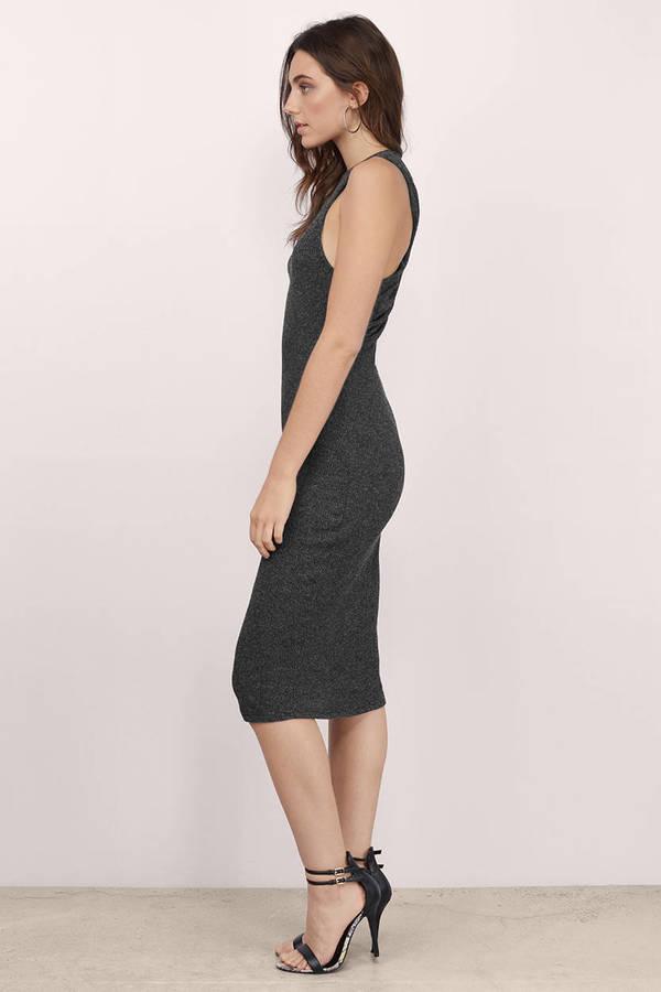 Trendy Black Midi - Racerback Midi - Black Midi - Black Sheath Dress ...