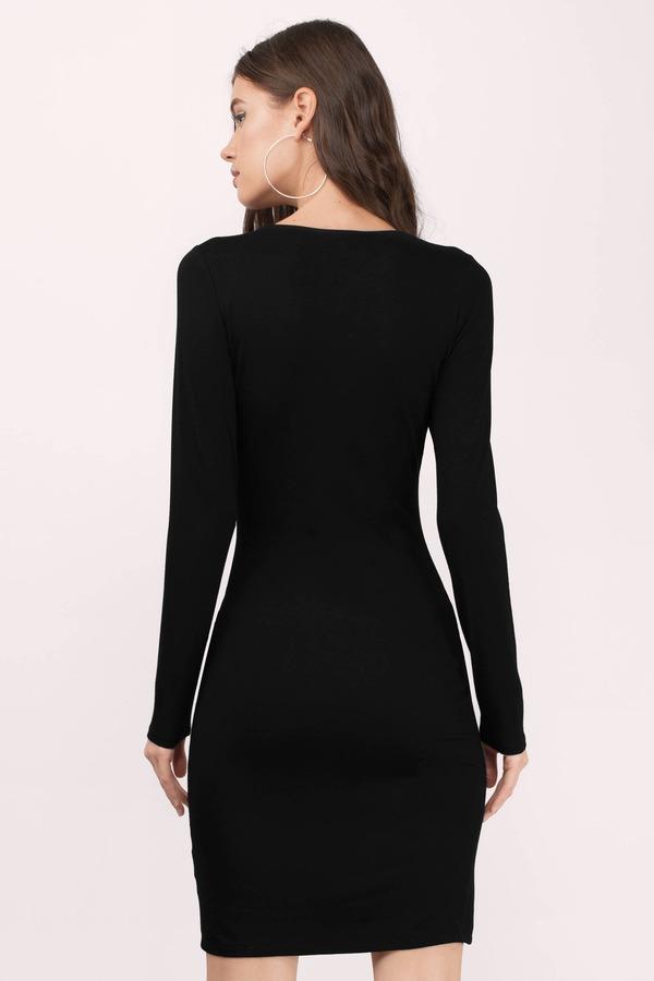 14daa401f4 Gorgeous Black Midi Dress - Front Slit Dress - Midi Dress - C  28 ...