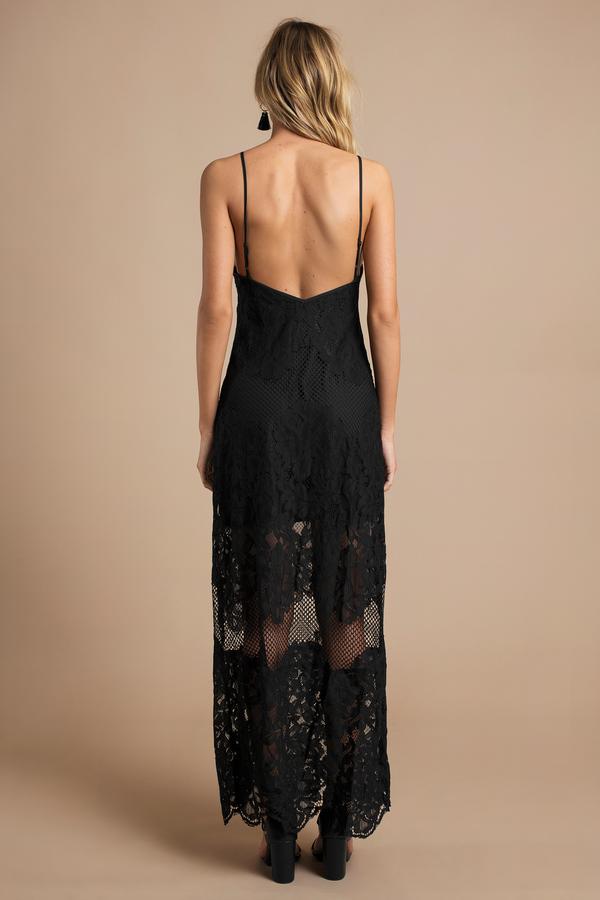 5bbe4f2ac0 Black Maxi Dress - Scalloped Dress - Black Dress - Sweetheart Maxi ...