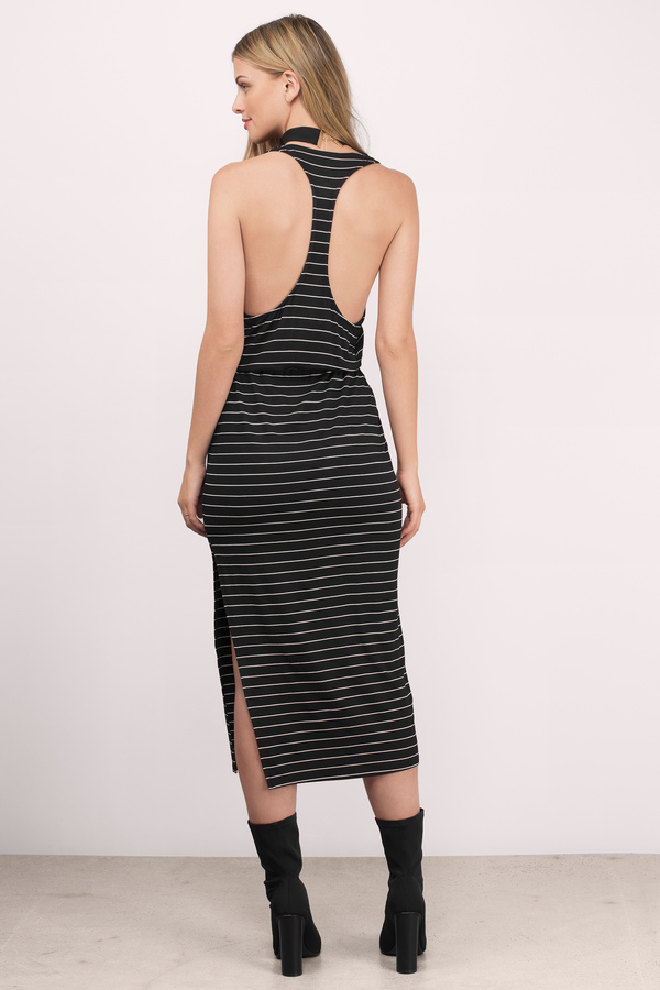 Black & White Maxi Dress - Black Dress - Racerback Dress - $11.00