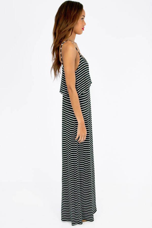 Tier Stripe Maxi Dress