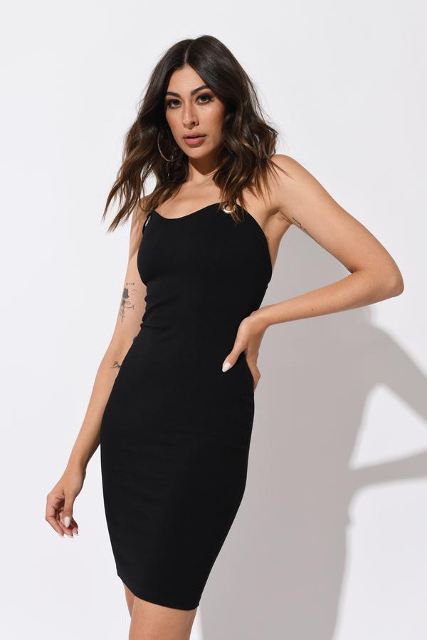Trendy Black Midi Dress Bodycon Dress Midi Dress Sweetheart
