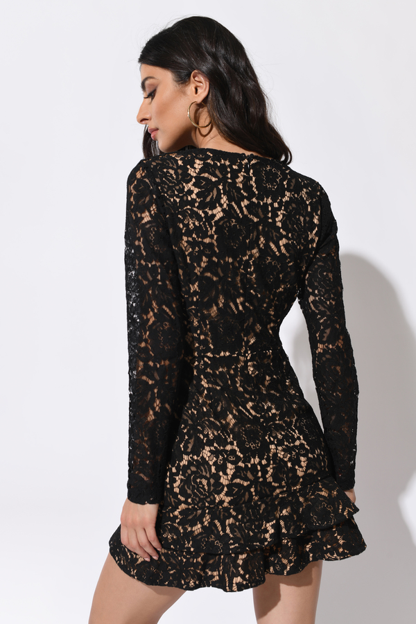 With You Black Lace Dress 42 Tobi Us